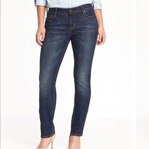 Old Navy Curvy Straight Jeans Dark Wash Size 16